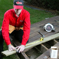 Home Repairs Louisville KY, local deck repair, deck finishing, and deck cleaning.