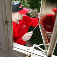 Home Repairs Louisville KY Mr. Handyman technician installation replacement windows and residential window repair.