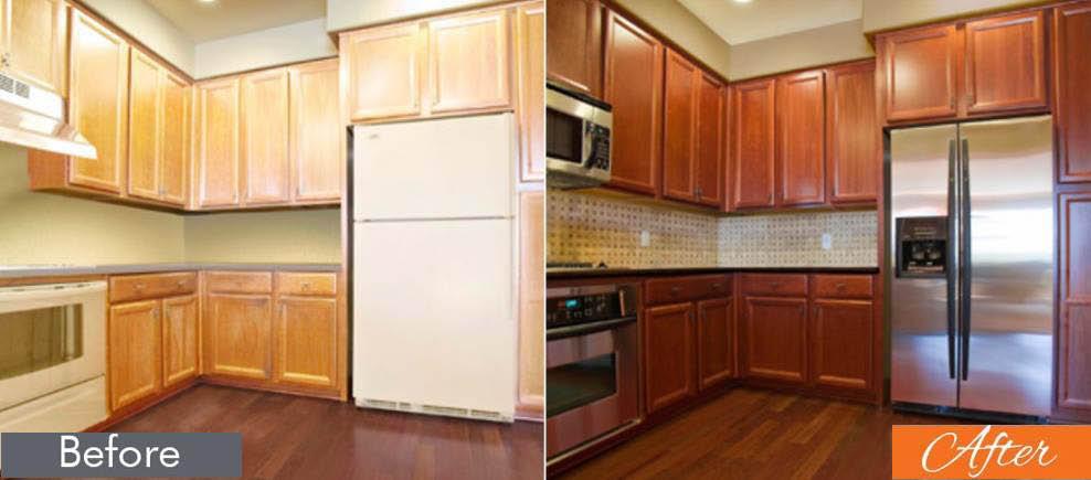 NHance kitchen cabinets wood refinishing Asheville