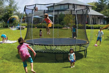 safe-outdoor-trampoline-recreation-unlimited, outdoor playsets,