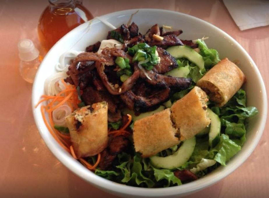 Vietnamese rolls and fresh garden veggies