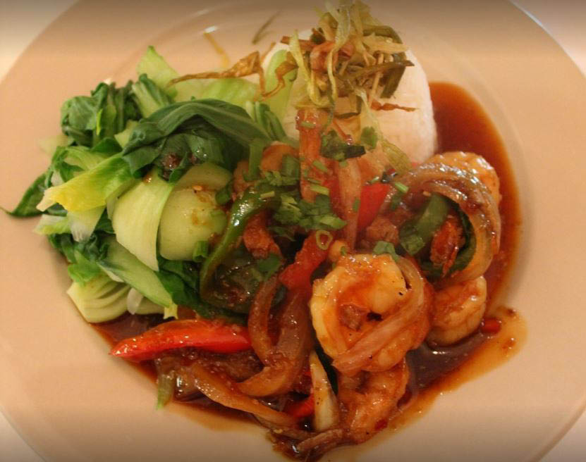 Savory shrimp with Vietnamese recipe vegetable medley