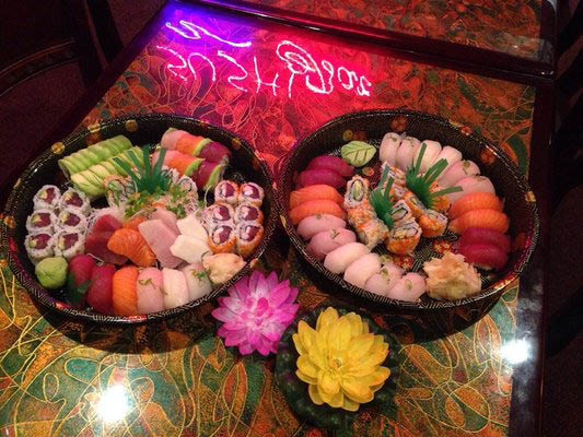 Bento Boxes & Sushi Platters to go will spice up any party.