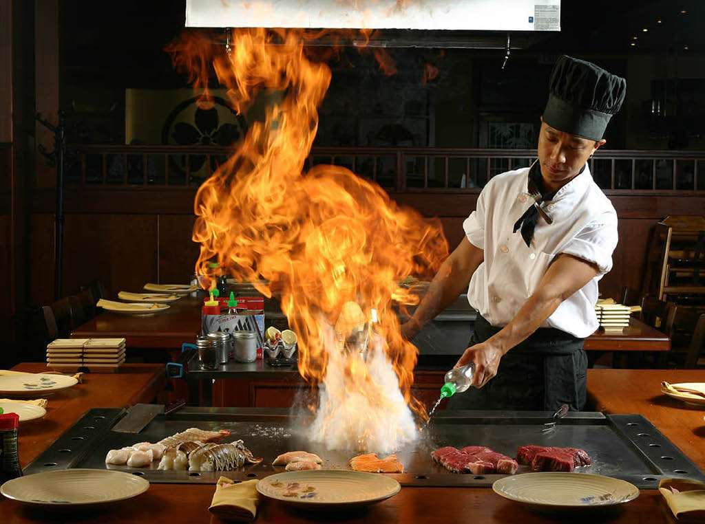 Sakura Anese Steak House Chef Cooks On Hibachi Grill At Your Table In Bowie Md
