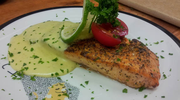 Salmon, Swordfish, Chatham Haddock are all healthy choices on our menu