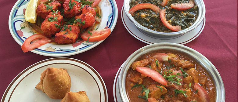 Samosa and other Curry dishes