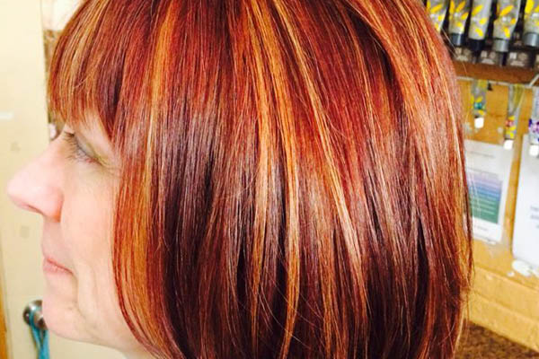 Picture of a Dye and Highlights from Salon on Sixth Hair Salon near Somers, WI