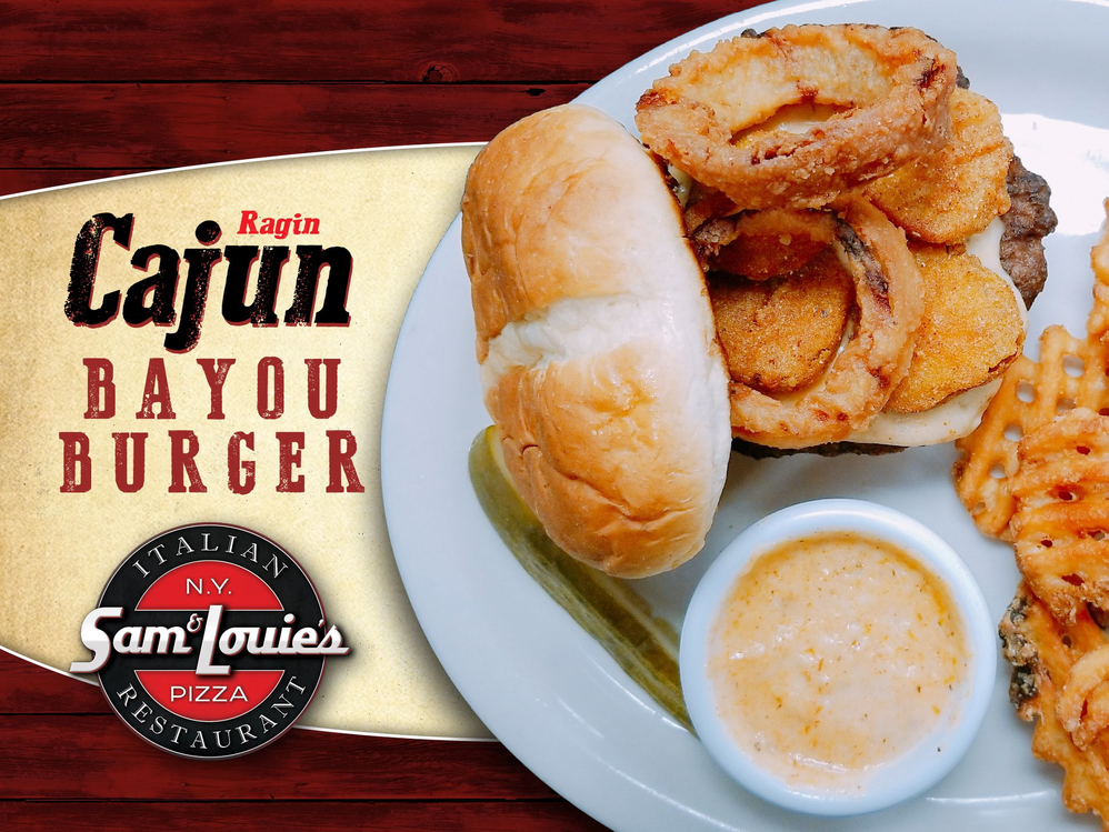 ragin cajun bayou burger