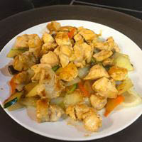 A healthy combination of delicious gourmet chicken and fresh veggies