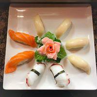 Beautifully displayed and freshly made sushi