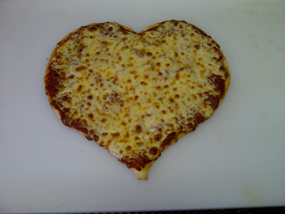 Photo of  Heart Shaped  Pizza  for Valentine's Day