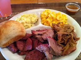 dinner plate at Spring Creek BBQ
