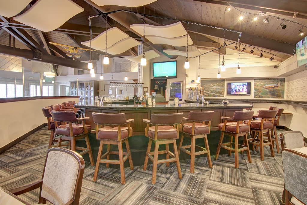 Golf course club house bar
