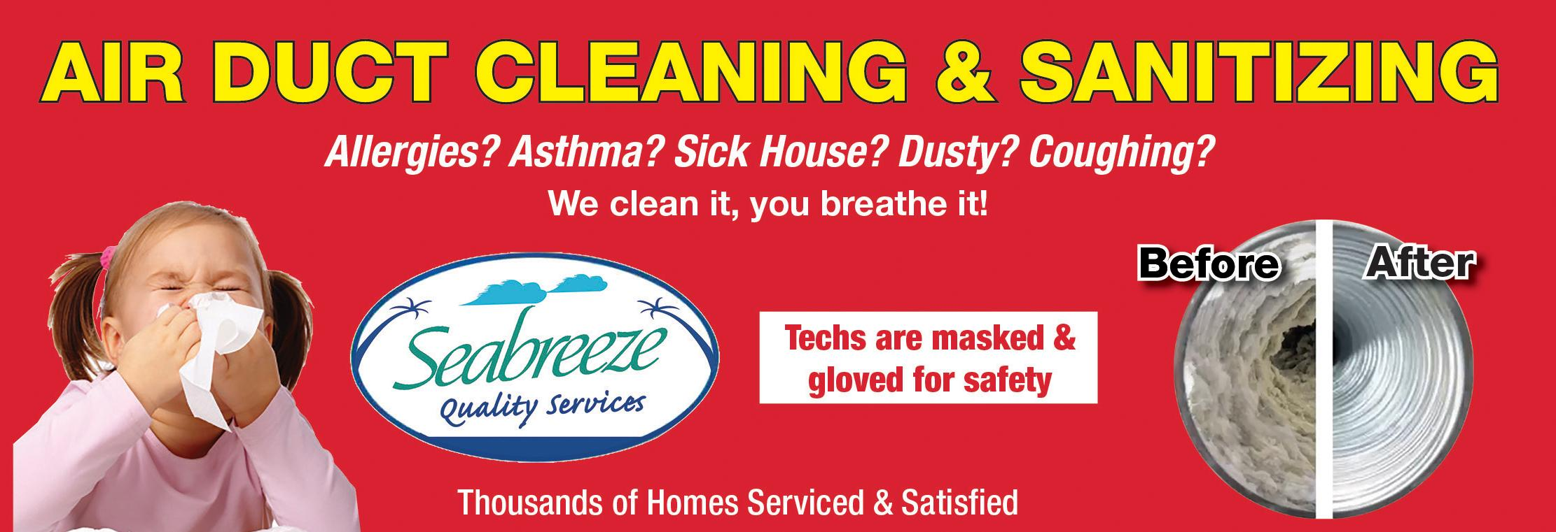 air duct cleaning coupon services Orlando and Space Coast FL