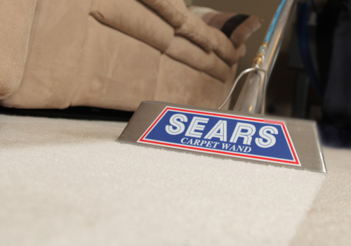 professional carpet cleaning with a Sears carpet wand