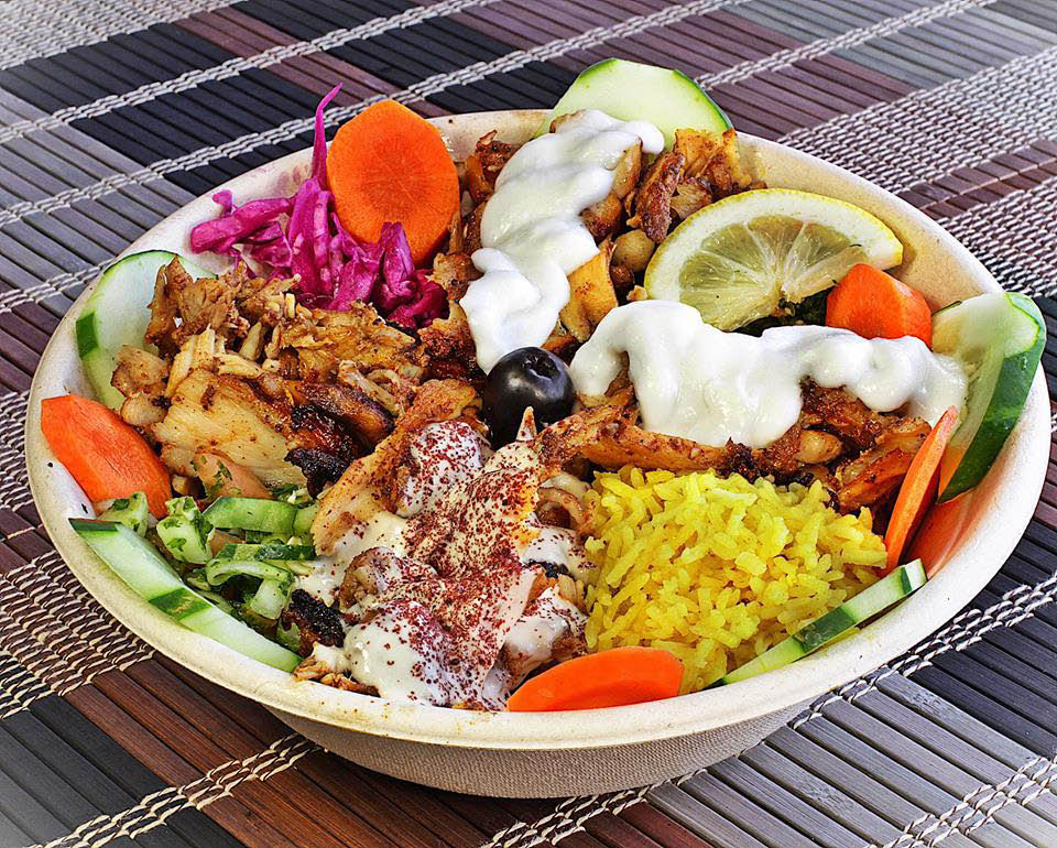 Over 20 toppings to choose from for our Mediterranean bowls.