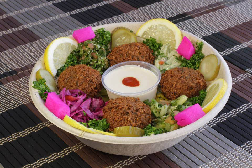 Try our stuffed falafel with onions and sumac inside at Semsem.