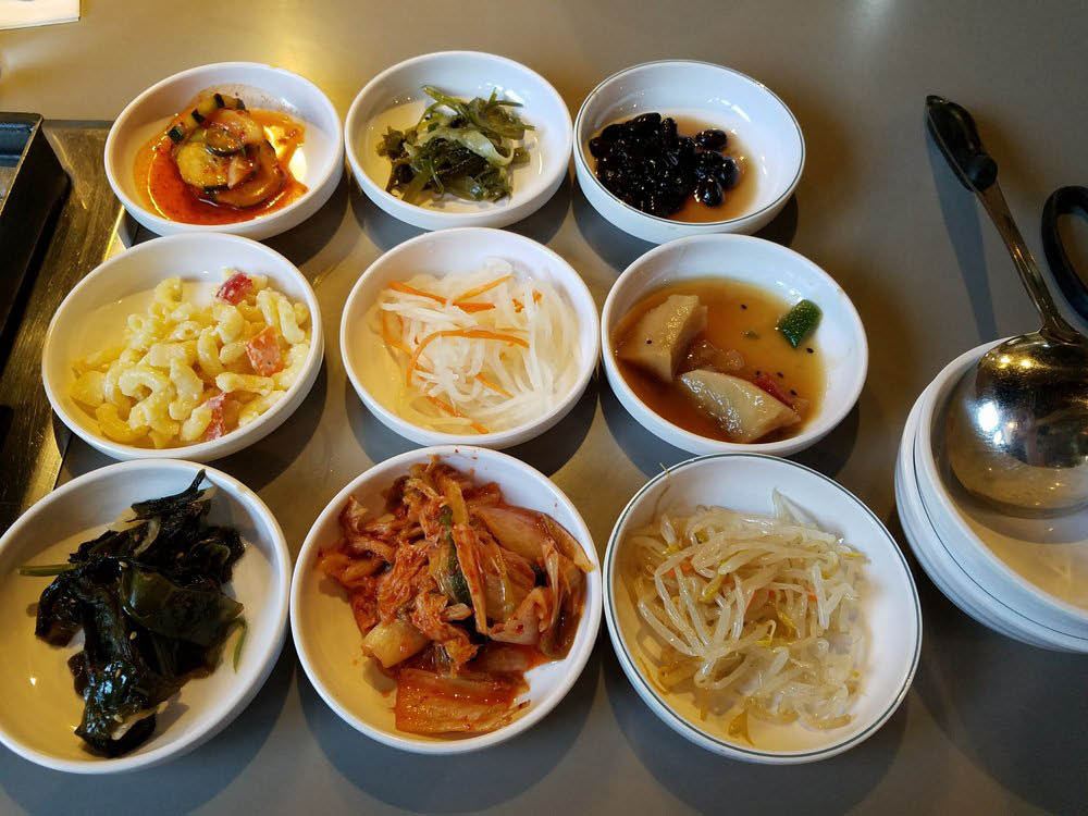 Seoul Jung Korean BBQ side dishes
