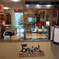 Interior of Seppe's Pizza Junction in Enola, PA