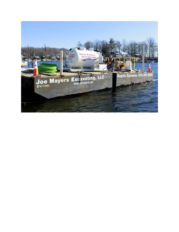 Barge service provided by Septic Experts in Augusta NJ