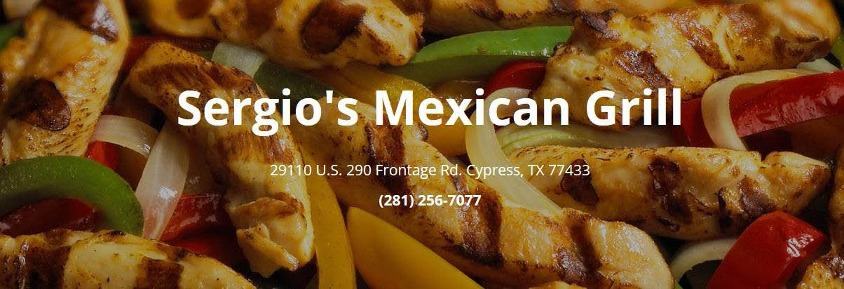 Sergio's Mexican Grill in Cypress, TX banner ad