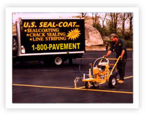 Line-striping by one of our US Pavement experts