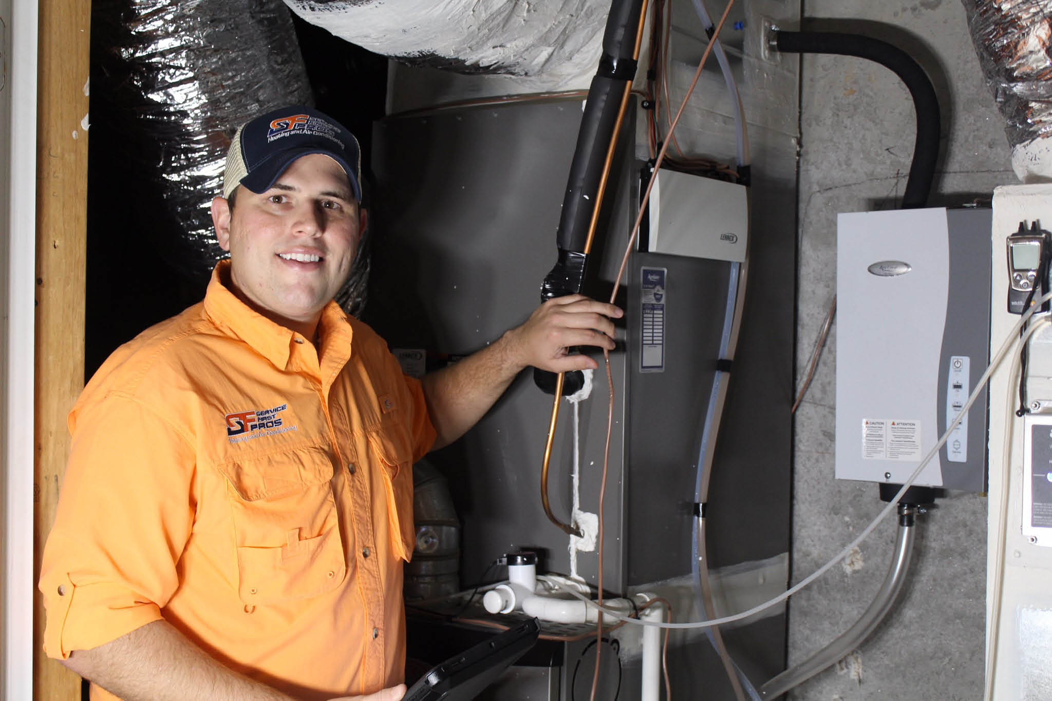 Service Pro technicians can repair or replace your heating or cooling system