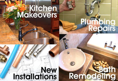 Kitchen and bathroom remodeling, plumbing repairs and installation services