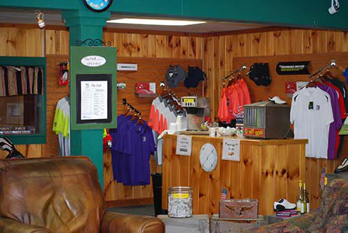 Pro shop at golf course
