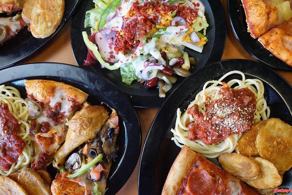 Italian food at pizza shop