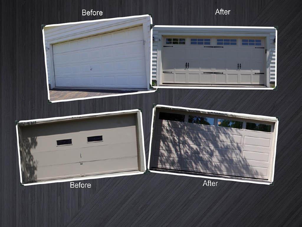 Shamrock Overhead Garage Doors before and after