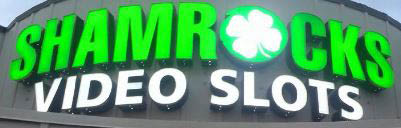 Building Marquee of Shamrock Video Slots in Lyons, IL.