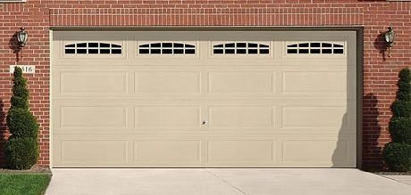 White garage door installed near Harrisburg, PA