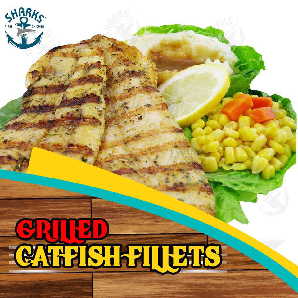 Grilled fish also available at Sharks Fish & Chicken