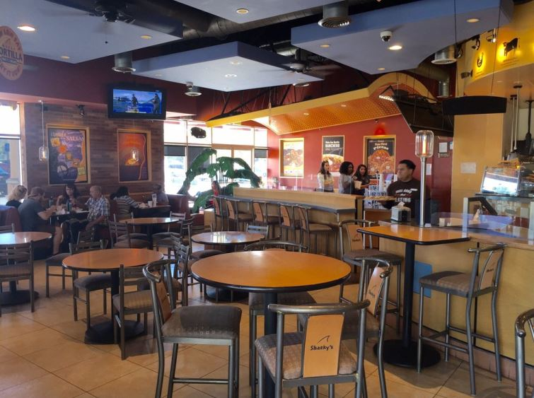 Interior of Sharky's Woodfired Mexican Grill in Palmdale