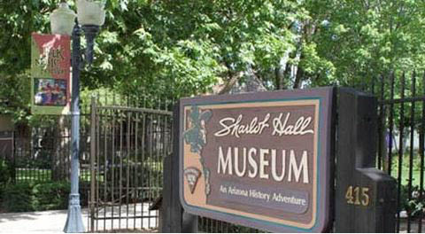 Look for the Sharlot Hall Museum sign at 415 West Gurley Street