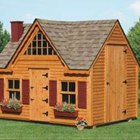 All types of sheds, garages, kids' playhouses in multiple sizes