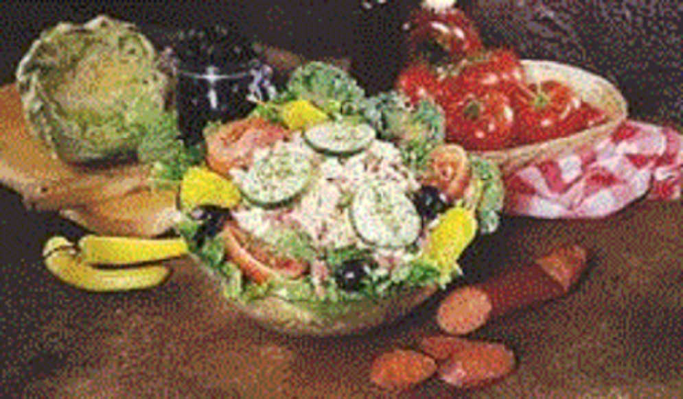 Picture of salad at Shields Pizza