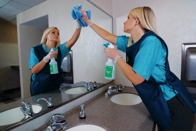 interior exterior window janitorial cleaning mirrors bathrooms commercial cheap best