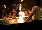Japanese hibachi cooking; hot grill cooking in Naperville, IL