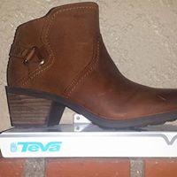 Brown Teva Boots with short heel