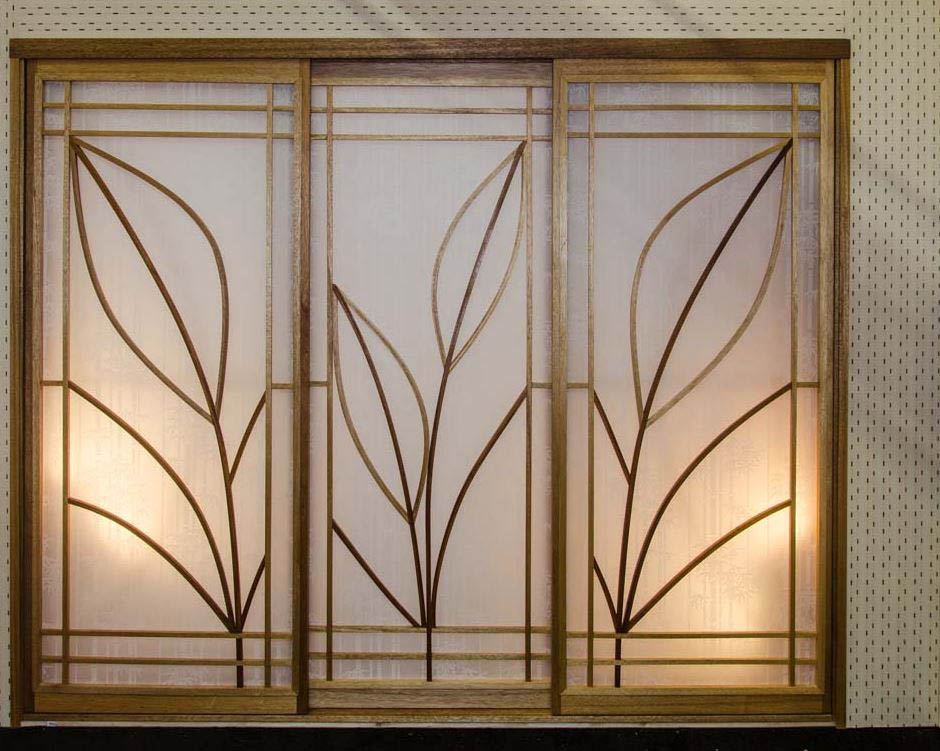 Asian-style screen doors; privacy