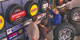 Discount tire, tire shop, tire rack near Chesterfield, MO