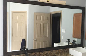 Custom mirror and mirror frame in China Town, TX