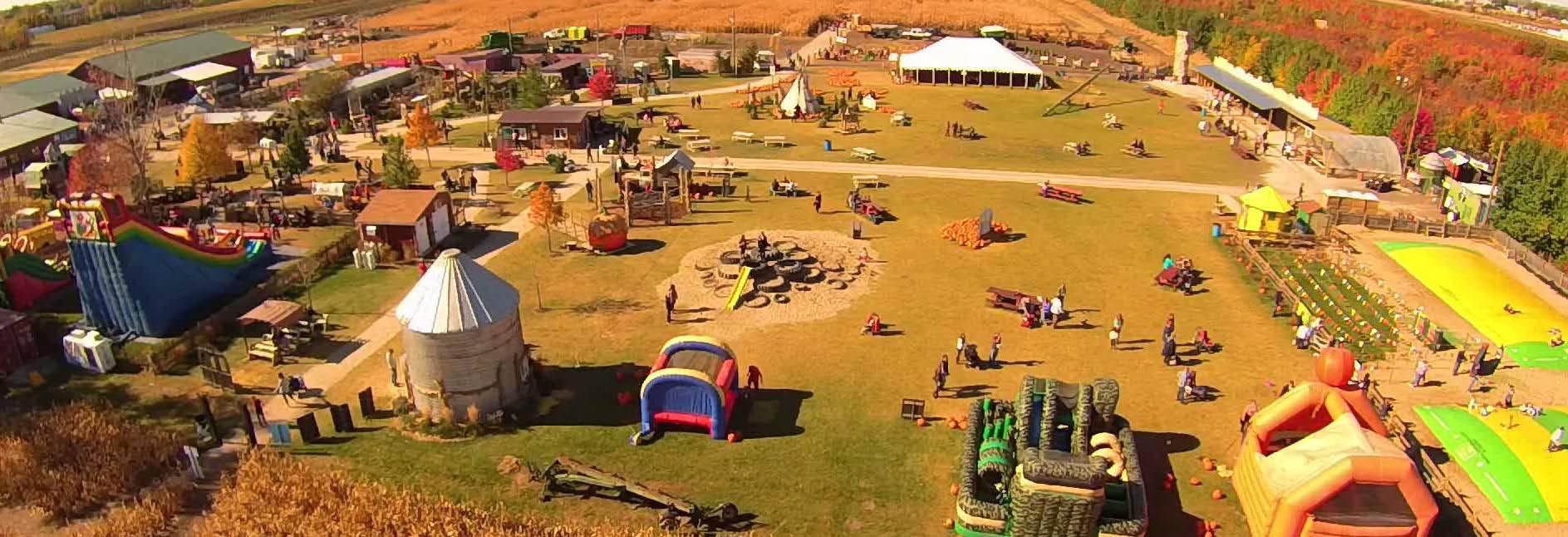 Aerial view of Siegel's Cottonwood Farm