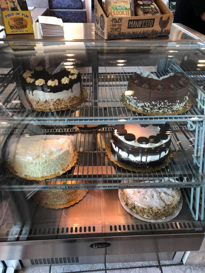 Bakery shelves are stacked with the best pastries and cakes