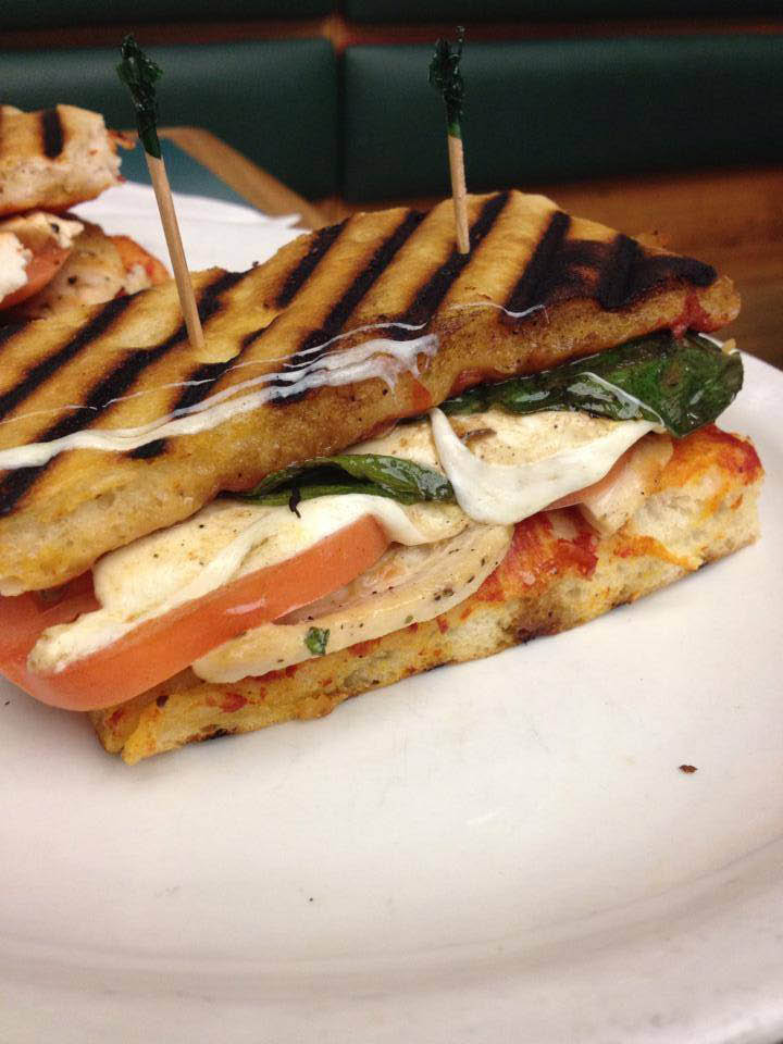 The panini sandwiches are a perfect lunch meal