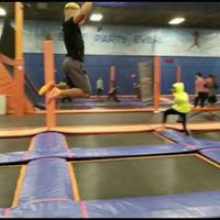 jump, trampoline, parties, fun, axe, axe throwing, team building, exercise
