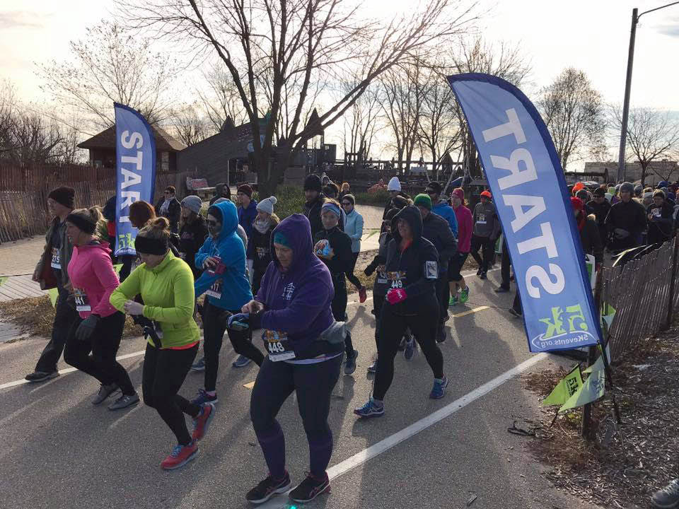 Events all year long. Groups running with winter jackets on.