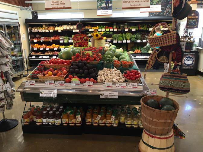 Fresh organic produce available